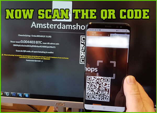 bitcoin payment amsterdamshops step 2